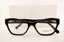 Brand New VERSACE Eyeglass Frames 3180 GB1 for Women BLACK 100% Authentic SZ 53