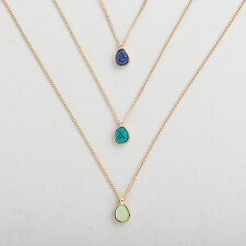 Set of 3 Stone Pendant Fashion Jewelry Necklaces Woman's Christmas Gifts Cheap
