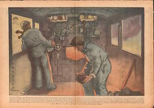 Railway Cheminots Charbon Locomotive Vapeur Chemin Fer France 1938 ILLUSTRATION