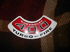 CHEVROLET 400 TURBO-FIRE TURBOFIRE AIR CLEANER TOP LID DECAL STICKER RED/WHITE