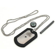 ARS 4-in-1 Dog Tag Survival Knife emergency outdoor signaling survival - NEW
