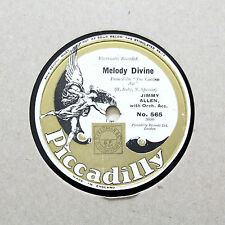 "JIMMY ALLEN ""Melody Divine / Mother's Smile"" PICCADILLY 565 [78 RPM]"