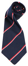 ROYAL NAVY CLASSIC STRIPE SILK WOVEN UK MADE MILITARY TIE