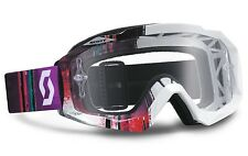 MASCHERA MASCHERINA OCCHIALI MX CROSS SCOTT HUSTLE PIXEL WHITE PURPLE CLEAR