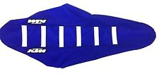 New KTM Blue & White Ribbed Seat Cover KTM SX 125 & 250 2007-2010 TLD Replica