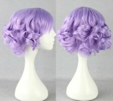 2016 Hot Super cute Lolita Mixed Light purple short cosplay wig +Gift