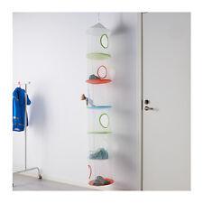 Ikea Fangst 6 tier filet suspendu rangement jouet enfants chambre à coucher multicolore neuf