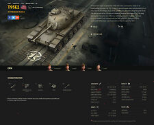 World of tanks NA ONLY Collectors tank T95E2. Done in 9-12 days. AMERICAN SERWER