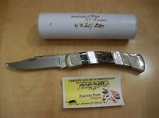 CUSTOM BUCK KNIFE 110 PAINTED PONY~ MOTHER OF PEARL/BLACK PEARL~ AWESOME KNIFE