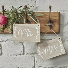 Mr Mrs Wooden Chair Hanging Signs Photo Props Vintage Rustic Wedding Decorations