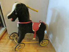Antique Riding Excelsior Stuffed horse w/wheels metal frame child unisex 1930's