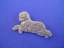 Old English Sheepdog Pewter Pin LEAPING #58C Dog Jewelry by Cindy A. Conter