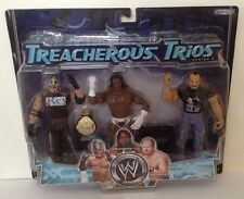 WWE Treacherous Trios Series 5 Rey Mysterio Booker T Chavo Action Figure 3-Pack