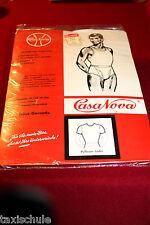 Original 50er Jahre Unterhemd Hemd Kurzarm Gr. 164 = 4 Weiß Baumwolle Retro