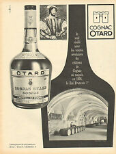 Publicité Advertising 1965  Cognac OTARD  Chateau de Cognac