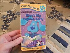 Blue's Clues - Blue's Big Pajama Party VHS TAPE