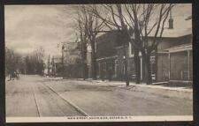 POSTCARD ONTARIO NY/NEW YORK MAIN STREET BUSINESS STORE FRONT 1907
