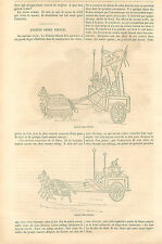 Car Battle War China Char de Combat Bataille Guerre Chine GRAVURE OLD PRINT 1864