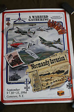Original 50th Anniversary of Normandy Invasion Poster from AAF/POW Vet. A.Weiss