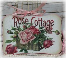 """ROSE COTTAGE"" Vintage~Shabby Chic~Country Cottage style - Wall Decor Sign"