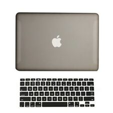 "2 in1 Rubberized GREY Hard Case for Macbook White 13"" A1342 with Keyboard Cover"