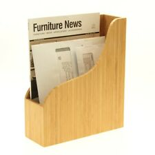 Magazine File Holder Bamboo Desk Organiser