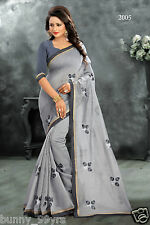 Women's Ethnic Designer Embroidery Work Cotton Cataouge Sarees