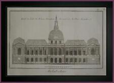 PLANCHE originale ARCHITETTURA ALZATA HOTEL DE VILLE  ROUEN  DIDEROT D'ALEMBERT