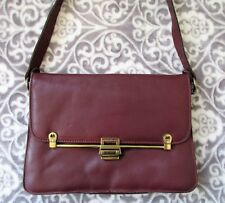 VTG ETIENNE AIGNER Hand Made Burgundy Red Leather Flap Latch Shoulder Bag Purse