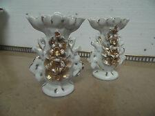 Paire de vases d'autel en porcelaine Vieux Paris