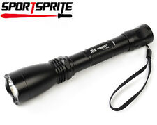 MX POWER 208# CREE Q5 LED 3 Mode 900 Lumens 3V 2xAA Flashlight Black For Outdoor