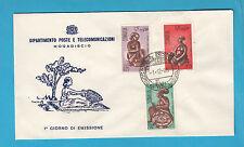SOMALIA PRIMO GIORNO ANNO 1968 FDC MOGADISHU MOGADISCIO ARTE SOMALA HANDICRAFT