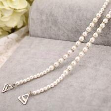 2x Crystal Diamante Pearl Bra Straps Detachable Wedding Party Prom Present