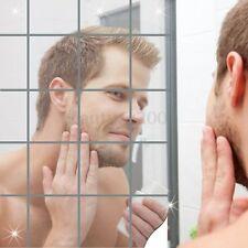 16x Autoadesiva Adesive Specchio Decalcomanie Bathroom Removeable Mirror Sticker