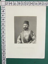 c1850 ANTIQUE PRINT ~ AHMED MUKHTAR PASHA