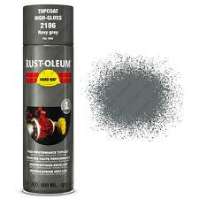 x2 Industriel Rust-Oleum Gris Marine Peinture En Aérosol Solide Chapeau 500ml