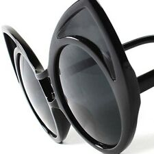 Black Old Fashioned Vintage Retro Party Funky Large Oversized Cat Eye Sunglasses