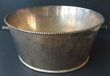 "Vintage Large Silver Plated Ice Champagne Bucket from India 13"" X  7"""