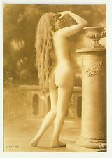 Yvonne Full Nude Postcard standing from behind Reproduction