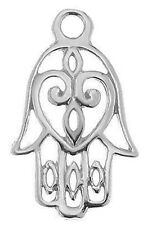 1 STERLING SILVER 925 HAMSA / LUCKY HAND CHARM / PENDANT, 20 X 12 MM