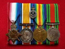 1914-15 Star Medal Group 2426 Swaby Sherwood Rangers Yeomanry Hussars Gallipoli