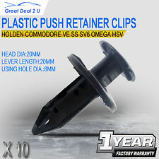 10x Plastic Push Retainer Clips Bluk Lots Holden Commodore VE SS SV6 OMEGA HSV