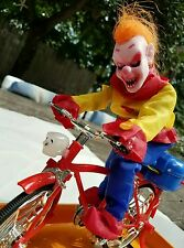 LED Light Up Musical Skeleton Cyclist Demented Clown by Spooky Village NEW