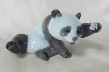 NEW LLADRO A JOLLY PANDA BRAND NEW IN BOX #8359 ADORABLE CUTE BEAR FLOWER SAVE$$