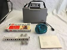 Vintage 320 Polaroid land camera  and Polaroid 268 flash gun