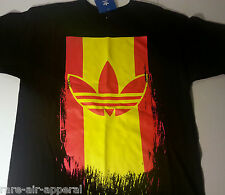 ADIDAS ORIGINAL SPAIN MLS TRE-FOIL BLACK/YELLOW/RED MENS TEE T-SHIRT 2XL XXL