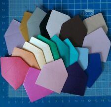 Juego de 10 Mini Tarjetas & Sobres Nacarado 3x4cm-Usted Elige Color