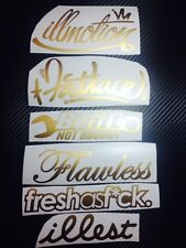Mega GOLD Decal Sticker Pack JDM illest Stance Dope fatlace drift