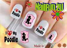 "RTG Set#143 DOG BREED ""I Love my Poodle"" WaterSlide Decals Nail Art Transfers"