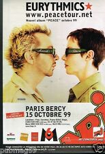 Publicité advertising 1999 Concert Eurythmics Paris Bercy